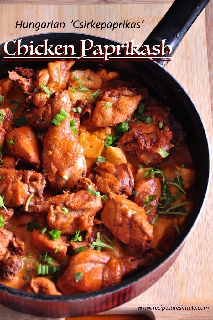 Hungarian Chicken Paprikash Csirkepaprikas Reciperecipes R Simple Hungarian Chicken Paprikash Chicken Paprikash Stew And Dumplings