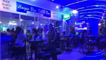 Unique Blue sports bar