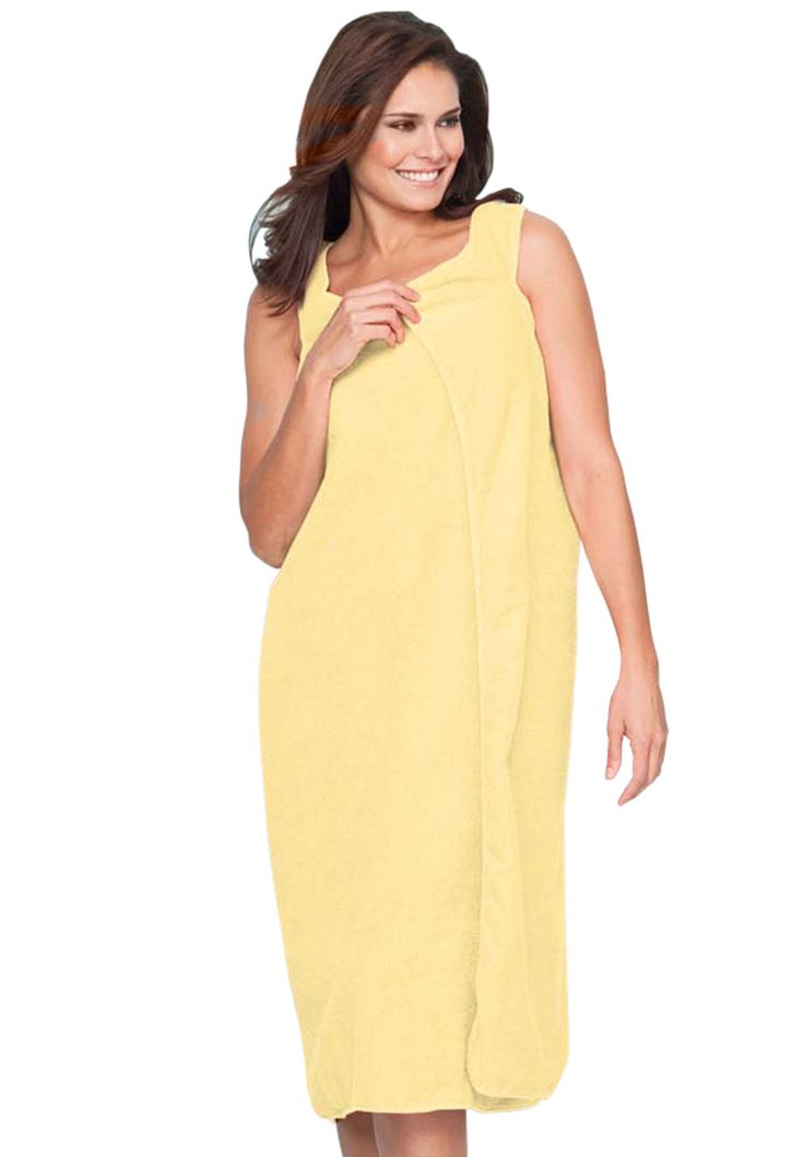 Wearable towel by Dreams & Co.® | Plus Size Robes & Slippers | Woman Within
