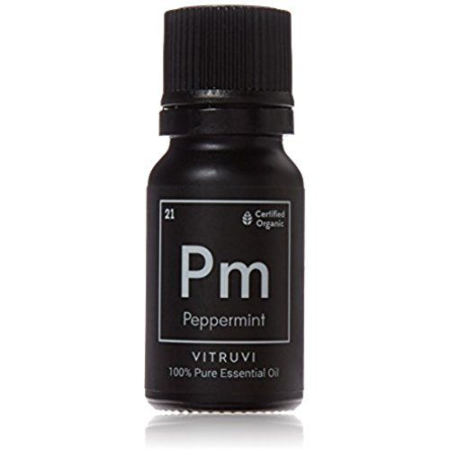 Vitruvi Organic Peppermint Essential Oil, 100% Pure Undiluted Premium Grade Essential Oil, Certified Organic (.34 oz)  / #giftsforher
