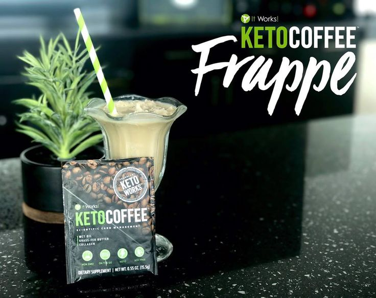 We just took #NationalFrappeDay to a #WholeNothaLevel! It Works! Keto Coffee—Frappe Style! It's so simple and you only need 3 ingredients! We just can't get enough !  ✅1 It Works! Keto Coffee Packet ✅1 Cup of Ice ✅8 oz of Water