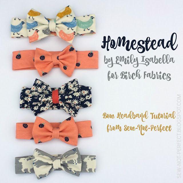 Free Bow Headband Tutorial from Not Sew Perfect | FabricWorm | Bloglovin'