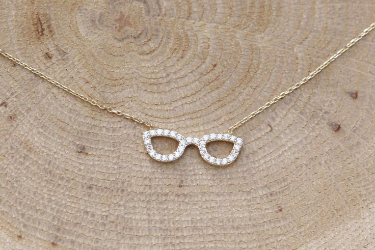 Glasses yellow gold necklace k14  #stelov #slv #glasses #gold #necklace #k14 #jewelry #shoponline #worldwideshipping