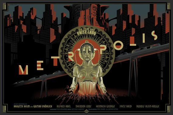 Metropolis Film Poster from Fritz Lang/'s Vintage 1927 Masterpiece A3 Print