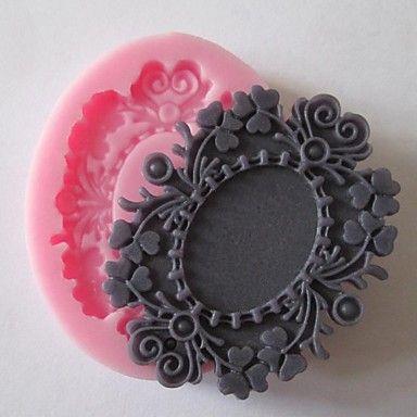 flor baking bolo fondant de chocolate do molde de doces, l6cm * * w5cm h0.9cm - BRL R$ 7,58