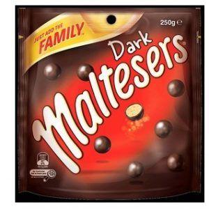 An outer of 8 Maltesers Dark 250g packs.