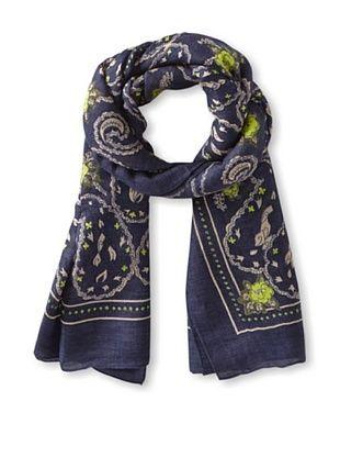63% OFF Theodora & Callum Women's Marseilles Tie-All Scarf/Pareo, Navy Multi, One Size