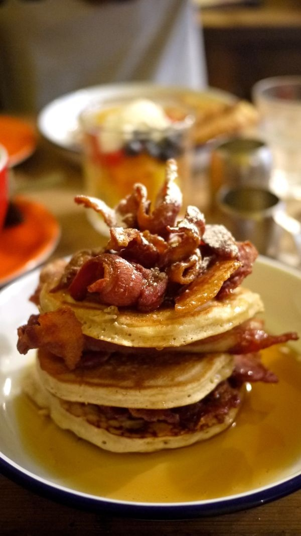 The Breakfast Club. Four locations across London, awesome. Breakfast Club, 33 D Arblay Street  W1F 8EU, Soho, 8:00-10pm.