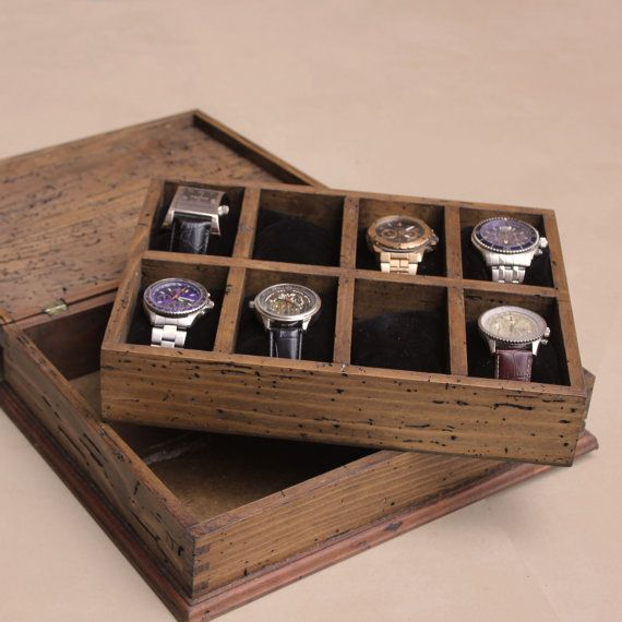 1000 ideas about personalized watch box watch box new personalized rustic men s watch box for 8 watches