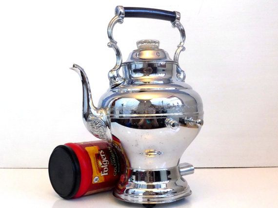 United Chrome Vintage United Electric Coffee Maker - Working Mid century Fancy Chrome Electric Coffee Pot