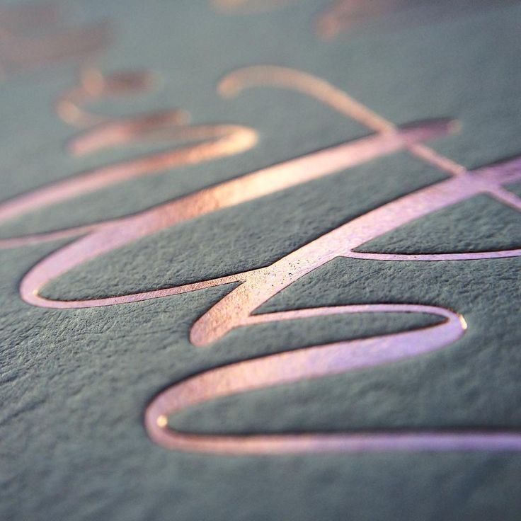 Closeup of a crisp rose gold foil nicely debossed into @gfsmithpapers Colorplan Real Grey. #cottonletterpress