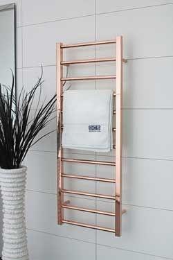 Wall copper bathroom towel warmer