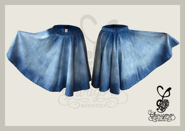 Denim Skirt Ghirigoro Made In Italy