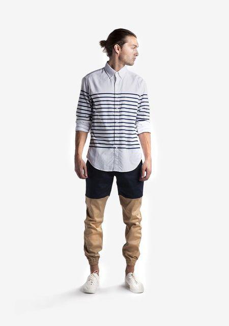 Two-tone chinos #joggers #chino #pants #menswear