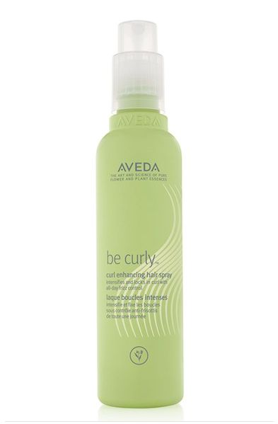aveda be curly curl enhancing hair spray... when your hair won't hold a curl.
