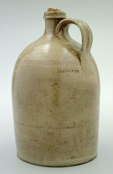Jacob Doris Craven 1827 1895 Jug Salt Glazed