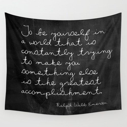 Tapestry - Ralph Waldo Emerson - Nature Tapestry - Black and White - Inspirational Quote - Emerson Quote - Inspirational Wall Decor