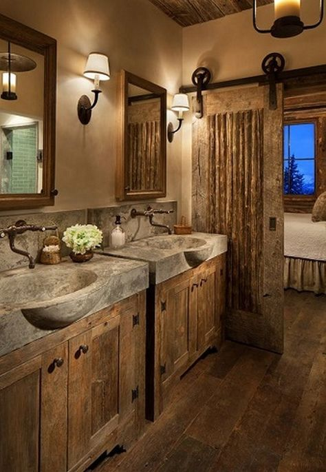 Rustic Vanity Bathroom Farmhouse Style_16