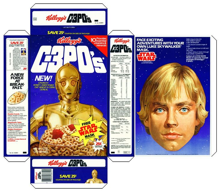 cereal boxes images | Vintage Papercraft: C-3P0's Cereal ...