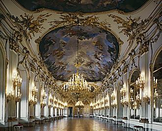 schonbrunn palace great gallery. Austria.