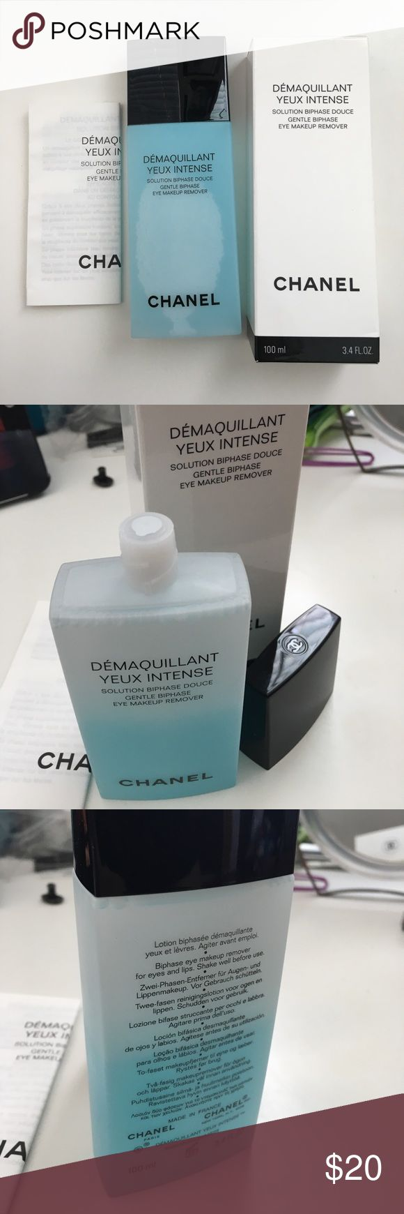 Chanel Eye Makeup Remover Chanel Demaquillant Yeux Intense Eye Makeup Remover. Sealed. Brand New. Never been used. Never been opened. Authentic. Box included. CHANEL Makeup
