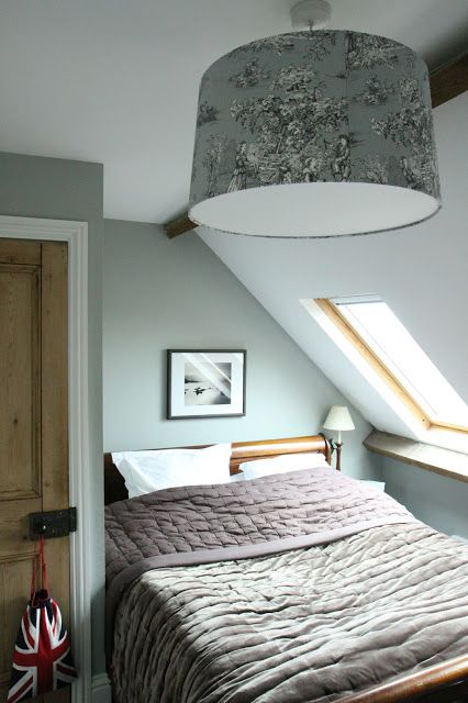 from Modern Country Style blog: Our Beautiful Over-Sized Jim Lawrence Lampshade