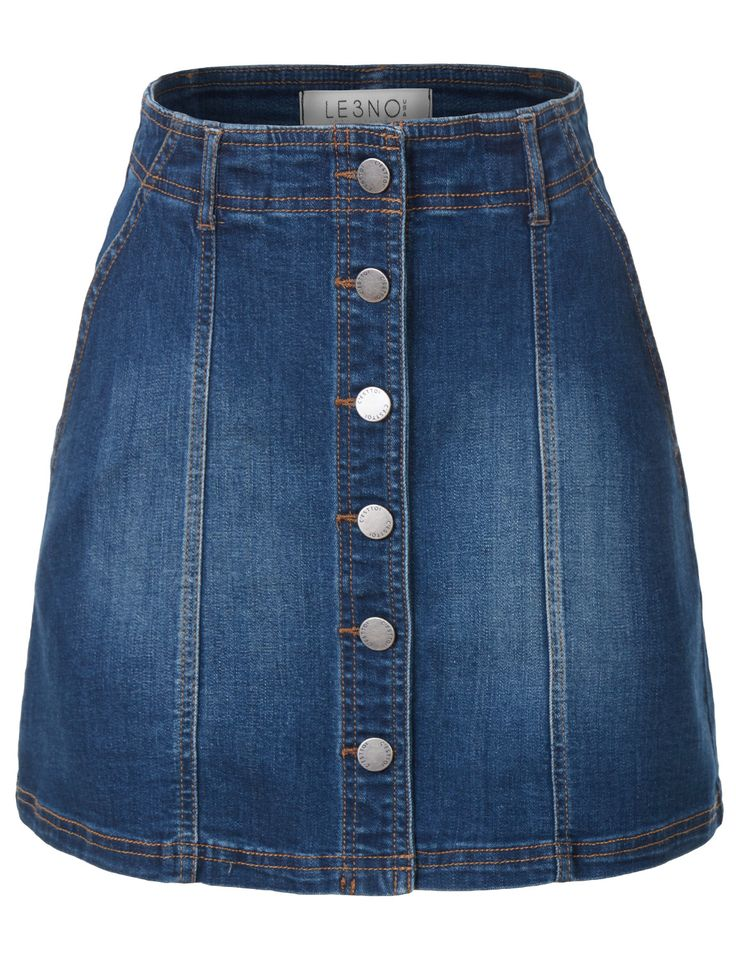 25  best ideas about Button down denim skirt on Pinterest | Button ...