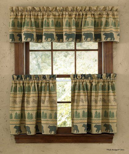 """Park Designs """"Bear Tracks"""" Country Lodge Lined 24"""" Tiers by North Country Home Accents. $29.95"""