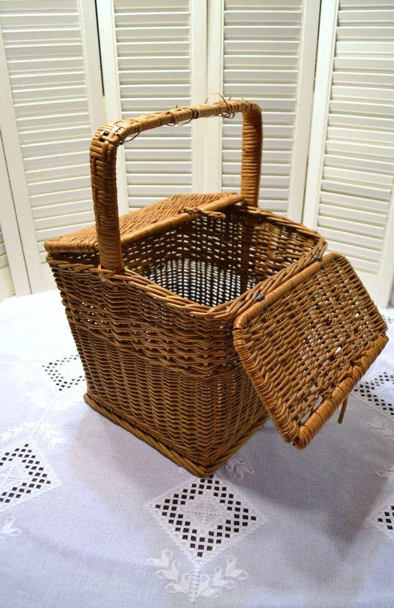 Vintage Wicker Picnic Basket Storage Project by PanchosPorch