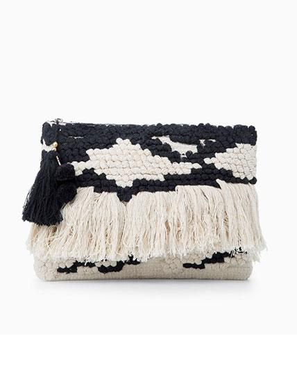 13 Ways to Wear Spring's Fringe Trend - Mango Clutch from #InStyle