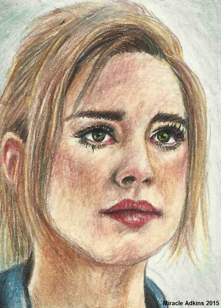 ORIGINAL ACEO The Walking Dead JESSIE ANDERSON Color Pencil Fan Art Sketch Card #Realism