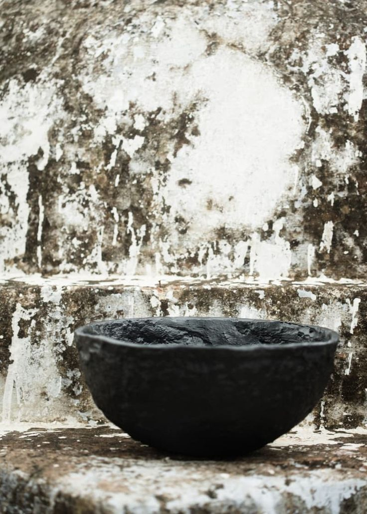 The mold for this coated aluminum bowl was formed by hand and inspired by an old Indian vessel. IKEA's new limited edition SVARTAN collection is bold, full of black, white and sides of gray, and can't be missed! SVARTAN decorative bowl, $35.