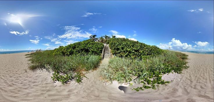 Jupiter Inlet Colony Beach Access Photosphere a 360° view of the beach on a glorious day in South Florida #soflo  #photosphere