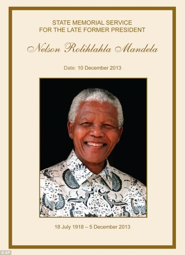 A nation is in mourning for this great man.