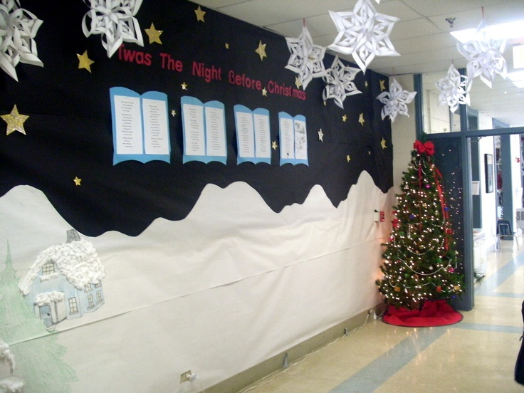 Christmas Hallway Display 3d snowflakes