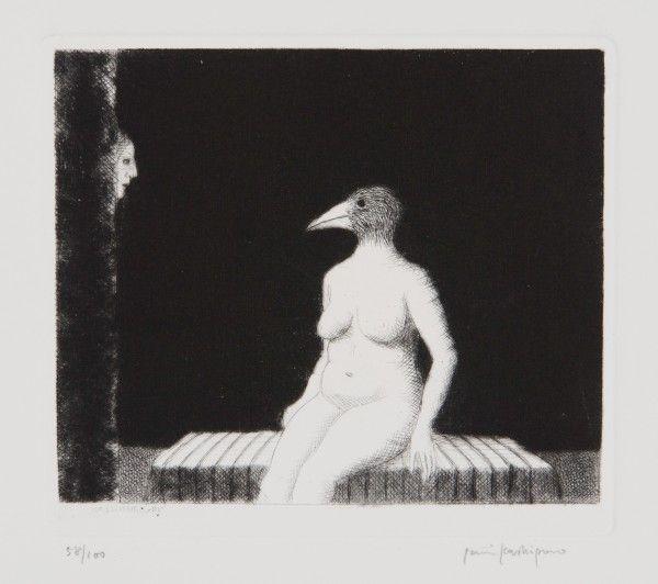 """Lintunainen"" (""Bird Woman"") by Finnish artist Pentti Kaskipuro (1982)."