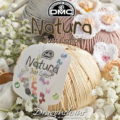 AMIGURUMI-DMC-Natura-Wool-50g-Ball-155m-Yarn-Knitting-Crochet-60-COLOURS