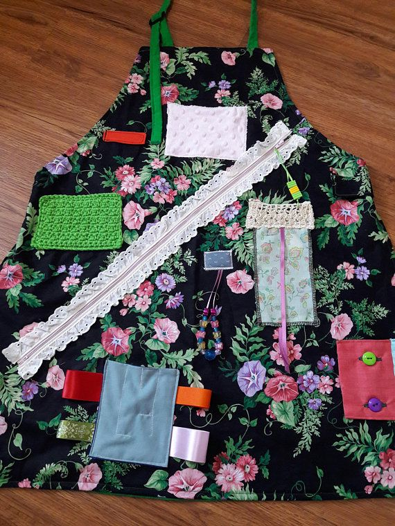 Fidget Apron For Alzheimer Or Dementia Patients Grandma Gift Mothers Day