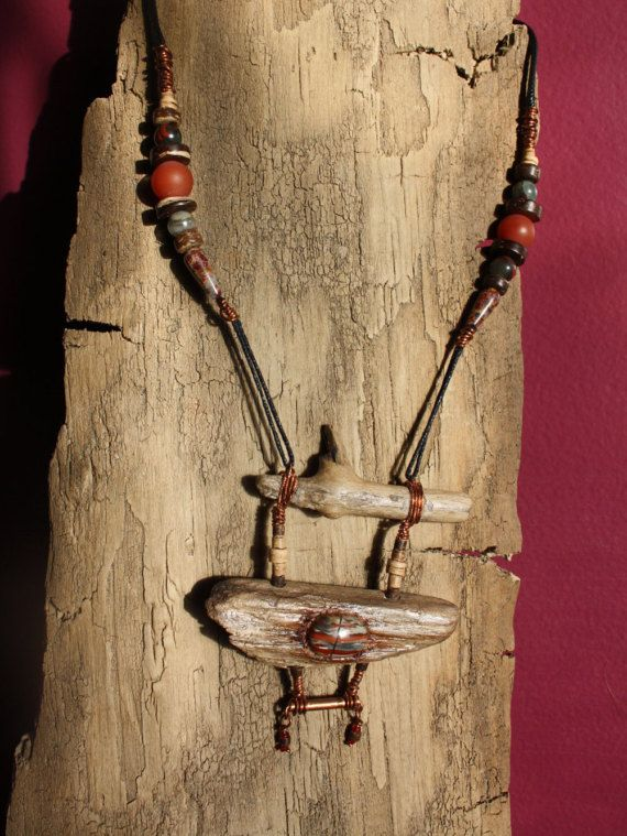 Handmade Copper Wiring Natural Flame Jasper Stone by TribeAll