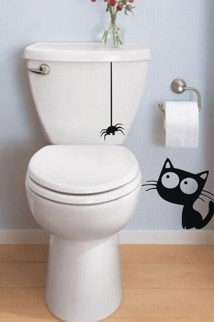 Vente Stickers / 15821 / Animaux / Sticker chat et araignée Noir