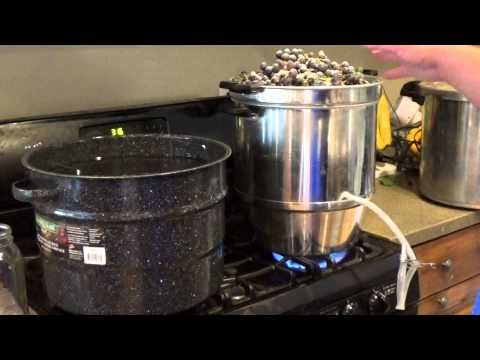 Making Grape Juice using a Steam Juicer - YouTube