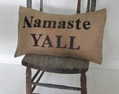Love.Texas Style, House Design, Namaste Yall, Southern Style, Burlap Pillows, Home Interiors Design, Yoga Southern, Modern Interiors, Design Home