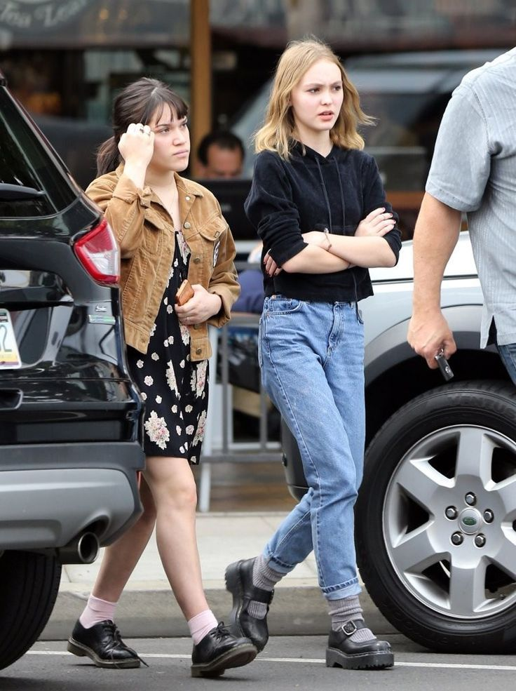 Lily-Rose Depp chunky shoes