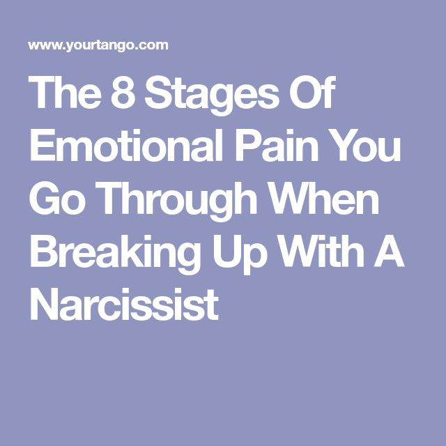 The 8 Stages Of Emotional Pain You Go Through When Breaking Up With A Narcissist