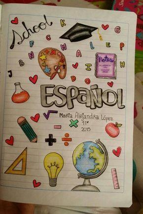Modelos de Carátulas para Cuadernos (+ 50 Imágenes) - Foros Ecuador
