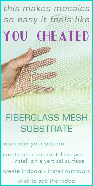 Wanting to create a large mosaic but want to work on it in your studio? Fiberglass mesh is the perfect substrate - Watch this video to see why! http://skeew.biz/products-mosaics/licmo/fiberglass-mesh.html