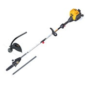 """At Power Equipment Plus, our gas polesaws have bars up to 12"""", letting you buzz through some pretty good-sized limbs, safely, and with your feet firmly planted on the ground!"""