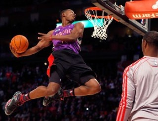 Rookie Terrence Ross of the Toronto Raptors wins 2013 NBA All-Star Dunk Contest (via @Nancy Christopher Sports)