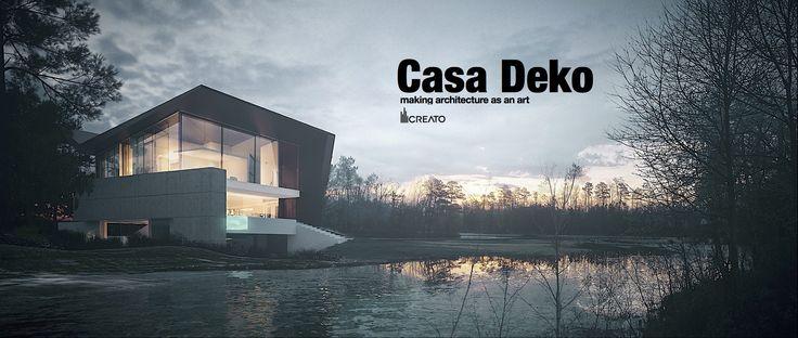 CASA DEKO BY CREATO  #architecture #design #concrete #minimal #contemporary #lifestyle #mexico #luxury #project #facades #mansion #amazingarchitecture #top #house #uae
