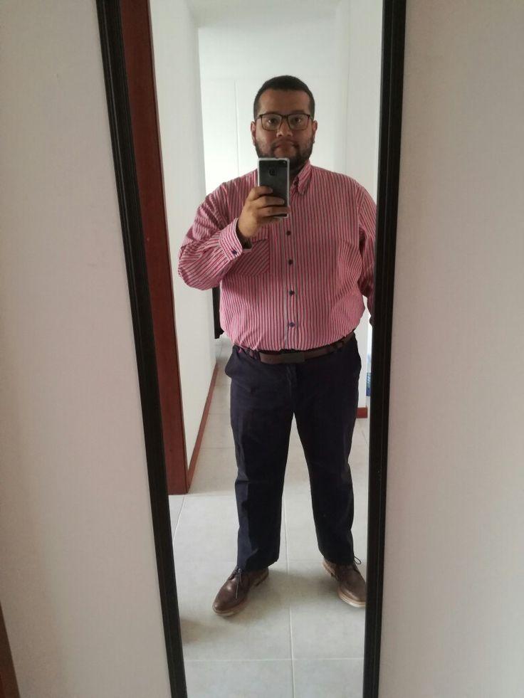 #menredshirt #chubby #fatty #ouftit